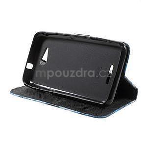 Peňaženkové puzdro pre Sony Xperia E4g - modrý motýľ - 6
