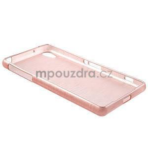 Brúsený gélový obal pre Sony Xperia Z2 - ružový - 6