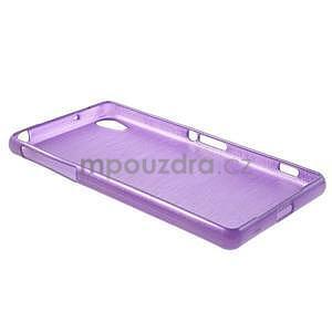 Brúsený gélový obal pre Sony Xperia Z2 - fialový - 6