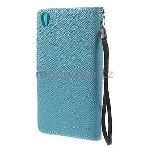 Tyrkysové Peňaženkové puzdro pre Sony Xperia Z3 - 6