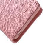 Růžové peněženkové pouzdro na Sony Xperia Z3 Compact - 6/7