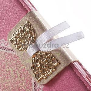 Zapínacie puzdro s mašličkou pre Sony Xperia Z3 Compact - ružové - 6