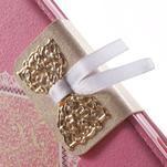 Zapínacie puzdro s mašličkou pre Sony Xperia Z3 Compact - ružové - 6/7