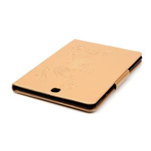 Butterfly PU kožené puzdro pre Samsung Galaxy Tab A 9.7 - zlaté - 6
