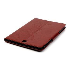 Butterfly PU kožené pouzdro na Samsung Galaxy Tab A 9.7 - hnědé - 6