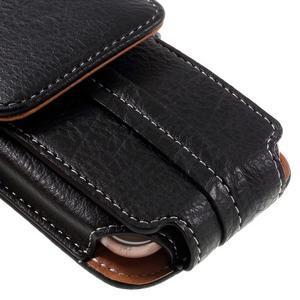 Cestovní PU kožené peňaženkové puzdro do rozmerov 150 x 73 x 15 mm - čierne - 6