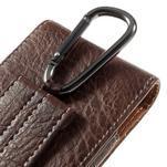 Cestovní PU kožené peňaženkové puzdro do rozmerov 150 x 73 x 15 mm - coffee - 6/7