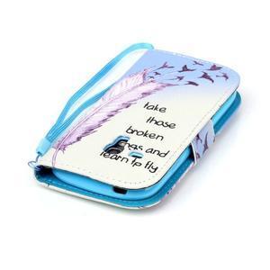 Knížkové PU kožené puzdro pre Samsung Galaxy S3 mini - vtáčiky - 6