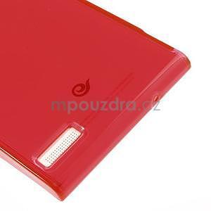 Gélové puzdro na Huawei Ascend P6 - červené - 6