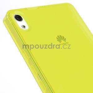 Gélové puzdro na Huawei Ascend P6 - žlté - 6