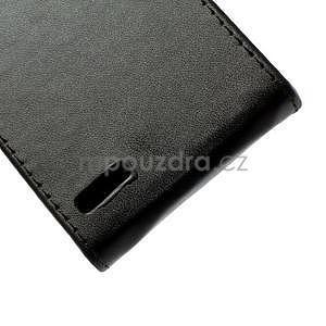Flipové puzdro na Huawei Ascend P6 - čierné - 6