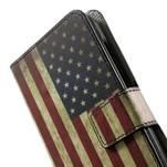 Peněženkévo puzdro na Huawei Ascend Y550 - USA vlajka - 6/7