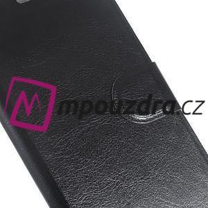 Horse PU kožené puzdro na mobil Huawei Y5 II - čierne - 6