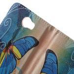 Emotive peněženkové puzdro na Huawei Y5 II - modrý motýl - 6/7