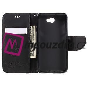 Butterfly PU kožené puzdro na mobil Huawei Y5 II - čierne - 6