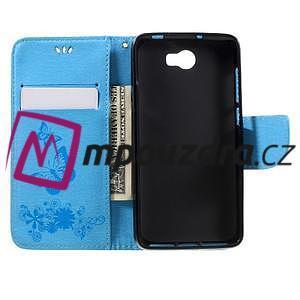 Butterfly PU kožené puzdro na mobil Huawei Y5 II - světlemodré - 6