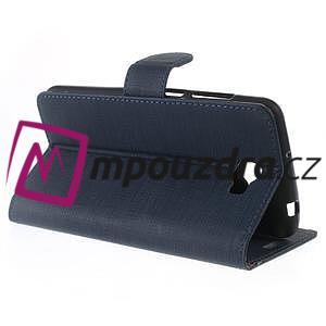 Clothy peněženkové puzdro na Huawei Y5 II - tmavěmodré - 6