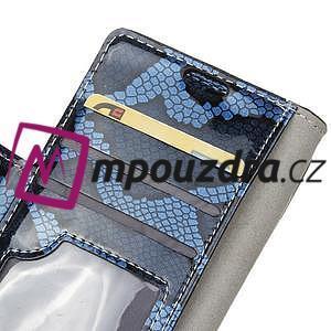Pouzdro s hadím motivem na mobil Huawei Y5 II - modré - 6