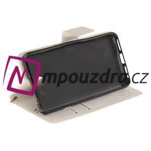 Dandelion PU kožené puzdro na Huawei Y5 II - biele - 6