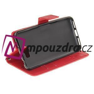 Dandelion PU kožené puzdro na Huawei Y5 II - červené - 6