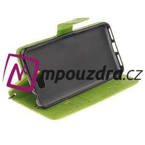 Dandelion PU kožené puzdro na Huawei Y5 II - zelené - 6
