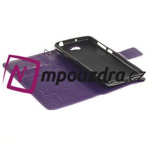 Dandelion PU kožené puzdro na Huawei Y5 II - fialové - 6