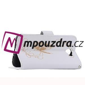 Motýlí peněženkové puzdro na Huawei Y5 II - biele - 6