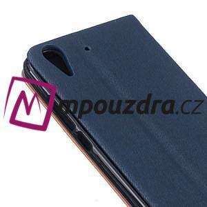 Klopové puzdro pre mobil Huawei Y6 II a Honor 5A - tmavomodré - 6
