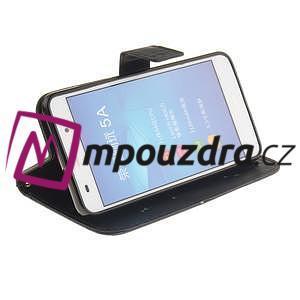 Dandelion PU kožené puzdro pre Huawei Y6 II a Honor 5A - čierné - 6