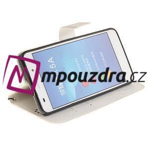 Dandelion PU kožené puzdro na Huawei Y6 II a Honor 5A - bílé - 6