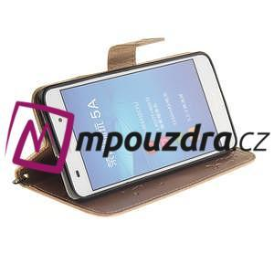 Dandelion PU kožené puzdro pre Huawei Y6 II a Honor 5A - zlaté - 6