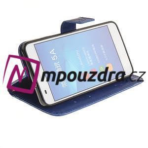 Dandelion PU kožené puzdro pre Huawei Y6 II a Honor 5A - modré - 6