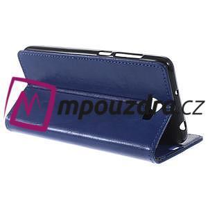 Horses PU kožené pouzdro na Huawei Y6 II Compact - modré - 6