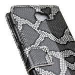 Peněženkové pouzdro s hadím motivem na Huawei Y6 II Compact - silver - 6/6