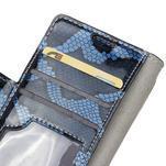Peněženkové pouzdro s hadím motivem na Huawei Y6 II Compact - modré - 6/7