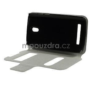 Flipové kožené puzdro na HTC Desire 500 - růžové - 6