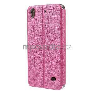 puzdro s okýnky na Huawei Ascend G620s - růžové - 6