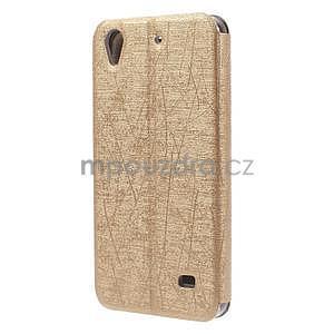 puzdro s okýnky na Huawei Ascend G620s - zlaté - 6