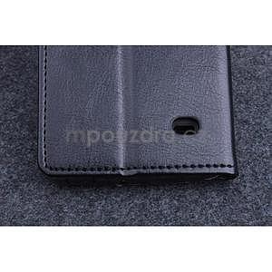 Čierné kožené peňaženkové puzdro na Huawei Ascend G620s - 6