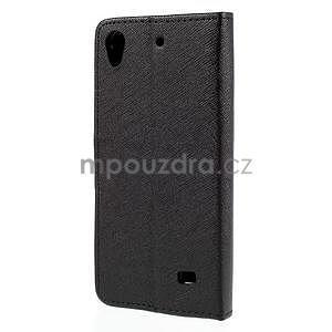 Peňaženkové puzdro na Huawei Ascend G620s - čierné - 6