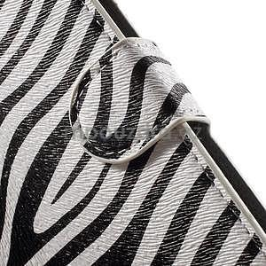 Pěněženkové puzdro na LG G4c H525n - zebra - 6