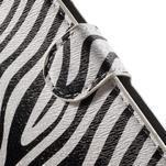 Pěněženkové puzdro na LG G4c H525n - zebra - 6/7
