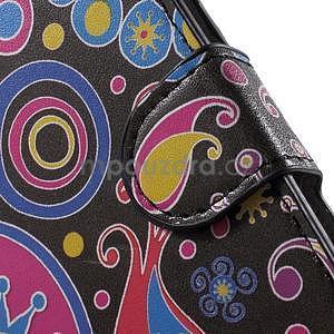 Pěněženkové puzdro na LG G4c H525n - farebné kruhy - 6
