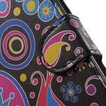 Pěněženkové puzdro na LG G4c H525n - farebné kruhy - 6/7