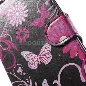 Peňaženkové puzdro pre LG G4c H525n - motýľe - 6