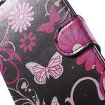 Peňaženkové puzdro pre LG G4c H525n - motýľe - 6/7