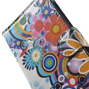Pěněženkové puzdro na LG G4c H525n - farebné květiny - 6