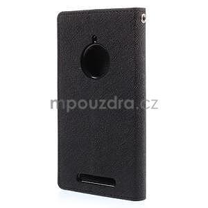 Kožené peňaženkové puzdro na Nokia Lumia 830 - čierné - 6