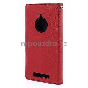 Kožené peňaženkové puzdro na Nokia Lumia 830 - červené - 6