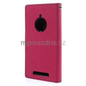 Kožené peňaženkové puzdro na Nokia Lumia 830 - rose - 6